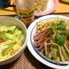 【今日の食卓】冷やし中華。北海道ラーメン用の縮れ生麺+ミツカンのタレ