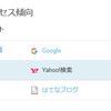 【はてなブログ】YAHOO!の表示はされたけど・・・でも、はてなブログのアクセス解析がおかしい?