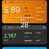 大阪マラソンまであと:28日 キロ7:30で5km走
