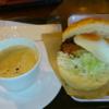 サンマルクカフェ、バリューランチ!「ソースチキンカツバーガーセット」頂きました。