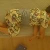 寝相が悪い3歳児。