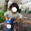 玄関のお花&桜満開♪