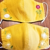 【コロナと私⑪】ワイヤー&フィルター入り立体マスクその後・夏に適した生地&ハンドメイド刺繍の話