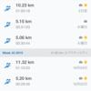10月は合計97km走った。11月は100km越えたい。