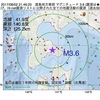 2017年08月02日 21時46分 渡島地方東部でM3.6の地震