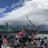 サンマ漁船の出港