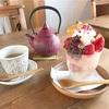 のどかな一軒家カフェで♪桜と苺のパフェ(雫CAFE @白楽)