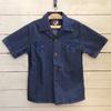 桃太郎ジーンズのスーベニアシャツは生地と同色の刺繍で経年変化が楽しみなオープンシャツ♪