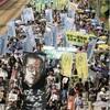香港民主派が大規模デモ…中国返還20年