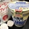 麺類大好き64 日清 北海道ミルクシーフー道ヌードル+コーヒーフレッシュ