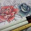 薔薇を色鉛筆で塗ってみる~の巻き