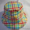 カラフルチェック帽子