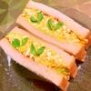 ブロッコリーとチーズのたっぷり卵サンド