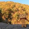札幌市 黄色く立ちはだかる定山渓ヴェルジネバッカーノの裏山
