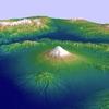 地球観測衛星「だいち」の標高モデルで立体富士山をPythonで描いてみる