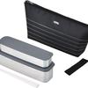 幅6センチとスリムで鞄に入れやすい サーモス フレッシュランチボックス DSA-804W BKBD