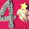 クリスマスと赤ちゃんイラスト。