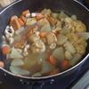 幸運な病のレシピ( 1217 )朝 :ポテトサラダ、煮しめ(おでん風)、味噌汁(新玉ねぎ・豆腐)