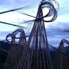 北アルプス国際芸術祭の作品 Bamboo Waves まだありました