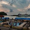平成最後の夕日が見える島