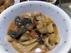 鶏肉ときくらげとエリンギのトマト煮