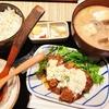東京駅の「茶らく」で人生ではじめて冷汁を食べてきました!チキン南蛮とセット!