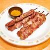 サイゼリヤ下総中山店@下総中山 アロスティチーニ(Wサイズ)、小エビのサラダ(Lサイズ)、スープ入り塩味ボンゴレ