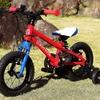 2歳の誕生日プレゼントはヨツバサイクルの自転車 12インチと2歳女児の実際その1