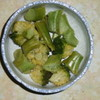 ブロッコリーの蒸しもの、フキノトウいり根菜の汁物