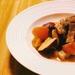 豚肉とりんごの軽い煮込み。さつまいもを入れて秋っぽい一皿に!