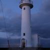 夕暮れの鮫角灯台