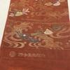 帯(夏・袋帯) オレンジ・立波に貝柄・河合美術織物