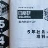 【日能研】公開模試(5年生4回目)の結果!