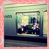 あいり、初めて1人で電車お出掛け!たった10分に父と母はドキドキです