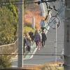 登校の様子 東西南北から学校へ