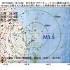 2017年08月31日 18時15分 岩手県沖でM3.5の地震