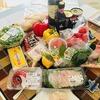 イタリアンな食卓 桃のパスタと肉料理