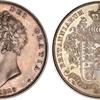イギリス1825年ジョージ4世クラウン銀貨パターン