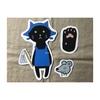 黒猫マグネット