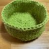 【編み図公開】セリアのラッピング用麻ヒモで作る小物入れ