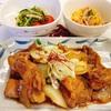 鶏肉の甘辛炒め 定食
