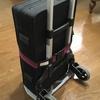 キャリカートへのペダルボードやケース類の固定方法 機材運搬