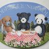 teddybear board 5 文字入れ