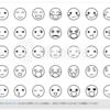 【aiデータ有り】シンプルな顔のイラストアイコン、色々使える便利素材!!