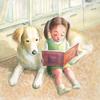水彩画「読んであげる2」