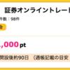 【ハピタス】ライブスター証券オンライントレード口座開設で1,000pt(1,000円)! 取引不要!