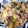 牡蠣燻製のペペロンチーノ