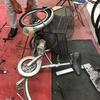 三輪自転車のブレーキ修理。