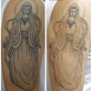 腕の黒いタトゥーのぼかし部分のインクが1回のレーザーで取れました
