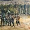 二枚の戦争体験画『噫、牡丹江よ!』を二宮で展示いたします!